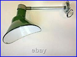 1940's Goodrich 13X11 Green Porcelain Sign Light Industrial Gas Station Vintage