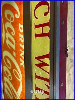 1940's Vintage Glass front Coca-Cola Lunch With US Electric Sign working READ