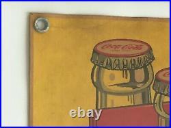 1946 Vintage, ORIGINAL, Coke Coca Cola Single-Sided Hanging Cardboard Sign VG+