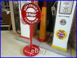 1950s Vintage Era Dr Pepper Curb Sign Lollipop