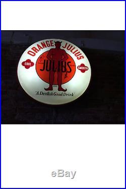 1950s original Orange Julius lighted sign vintage coffee shop Americana