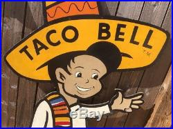 1962RAREORIGINALVTG TACO BELL ADVERTISEMENT SIGNPossibly One Of A Kin