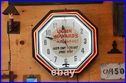 22 Vintage Antique Double Neon Car Trade Dealership Clock Advertising Sign 1930