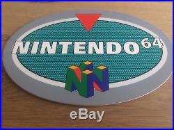 2x Nintendo 64 Vintage Retro Store Display Advertising Signs N64