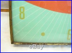 50s Vintage Green Coca-Cola Fish Tail Advertising Clock Sign Pam Swihart Coke