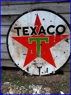 6' Vintage Texaco Sign