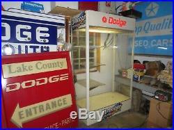 70's Original Vintage Dodge Mopar Performance Dealership Lightup Display Cabinet