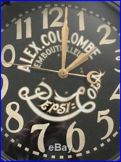 AWESOME Old Antique Early 1930s Vintage PEPSI COLA NEON Advertising SIGN CLOCK