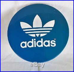 Adidas Blue Lollipop Button Store Counter Display Advertising Vintage Sign 19