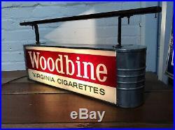 Advertising Sign Light Box Woodbine Cigarettes Shop Display Vintage Antique