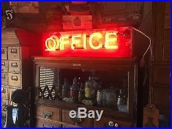 Antique Motel OFFICE Original Vintage Old Neon Advertising Sign 30 LONG & WORKS