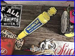 Antique Vintage Old Monroe Shock Absorber Sign. FREE SHIPPING