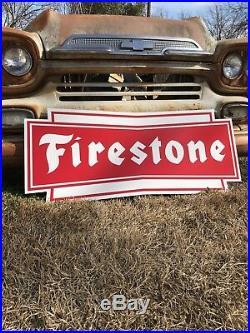 Antique Vintage Old Style Firestone Tires Sign