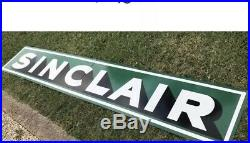 Antique Vintage Old Style Sinclair Gas & Oil Sign. Free Shipping