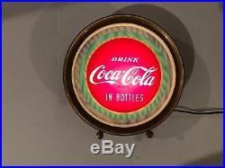 Antique Vintage Original Advertising 1949 Coca Cola Light Up Illusion Sign