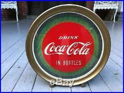 Antique Vintage Original Advertising 1949 Coca Cola Light Up Illusion Sign Nos