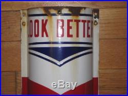 Antique Vintage William Marvy 4812 Company 4ft Porcelain Barber Sign