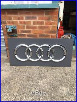 Audi dealership sign Genuine Automobilia Barn Find Advertising Vintage