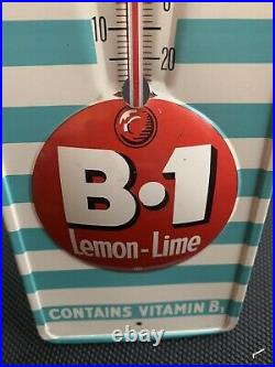 B1 LEMON LIME SODA More Zip in Every Sip T-200 Vintage TIN THERMOMETER SIGN