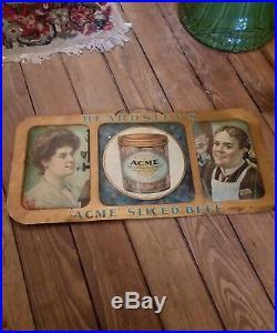 BEARDSLEY'S Vintage tin sign, ACME SLICED BEEF