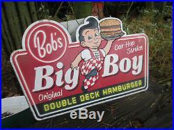 BOB, S BIG BOY Large Embossed Metal Display Sign vintage style Look garage sign