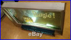 BURGIE! 3D Vintage Light Up Beer Sign Original Brewery Antique RARE ADVERTISING
