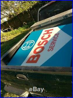 Backlit Sign 4' ft. Bosch Gas Station Vintage electric works florescent Porsche