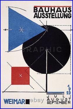 Bauhaus Design Poster 1923 Vintage Art Exhibition Giclee Poster Print 40x60