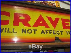 CRAVEN A Tobacco Cigar Advertising Porcelain Sign Original Frame Vintage RARE