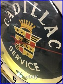 Cadillac Service Clock RARE Vintage Sign Neon Old Original 1930s 1940s 1950s
