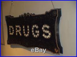 Circa 1920's cat's eye marbles DRUGS aranacci Vintage Marquee art