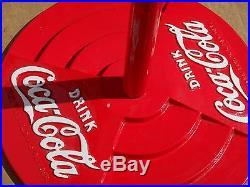 Coca Cola Cast Iron Base Sign Post Rare Vintage