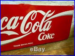 Coca Cola alloy sign advertising mancave cafe garage metal vintage retro kitchen