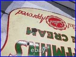 Double Side Antique Porcelain sign ice cream Sealtest Hoffman Vintag Dairy Store