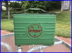 Dr pepper cooler vintage