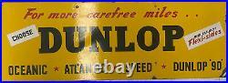 Dunlop Vintage Enamel Sign