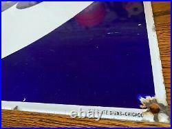Ford Porcelain Dealer Sign 1930s Veribrite Signs Chicago 39x25 vintage