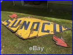 HUGE Original Vintage 15ft SUNOCO Neon Porcelain Sign from NJ Gas Oil Refinery