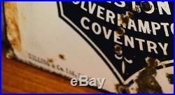 Humber cycles enamel sign early advertising decor mancave garage metal vintage