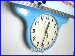 Hurst Shifter Ohio Advertising Clock, Vintage, 1950 1960, Lighted Neon Wall Sign