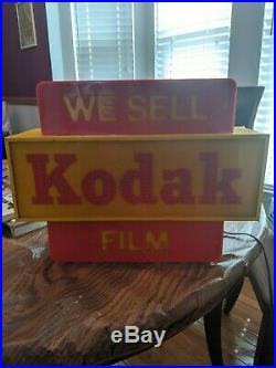 Kodak camera film lighted advertising display sign (Vintage)