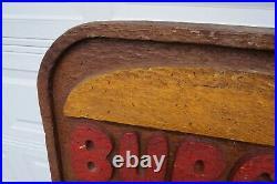 LARGE 48 x 48 Vintage Burger King Restaurant Sign Dining Room Decor Wood Foam