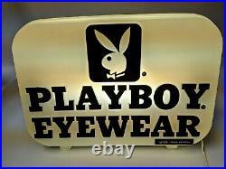 LIGHTED PLAYBOY EYEWEAR SUNGLASSES SIGN DISPLAY Advertising RARE VINTAGE OOAK