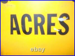 Large Vintage 1950's Golden Acres Seed Corn Farm 36 Metal Thermometer Sign Old