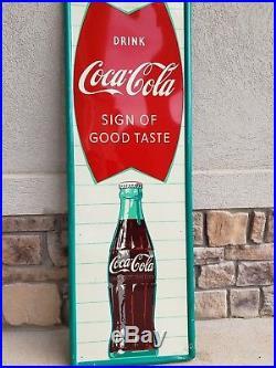 Large Vintage 1960's Coca Cola Fishtail Soda Pop Gas Station 54 SignOfGoodTaste