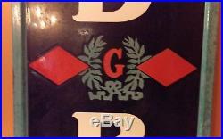 Large Vintage Goodrich Tires Gas Station Oil 78 Porcelain Metal Sign