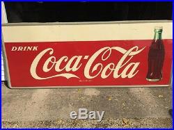 Large Vintage Metal Coca-Cola Sign