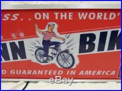 Large Vintage Schwinn bikes lighted advertising SIGN Bicycle