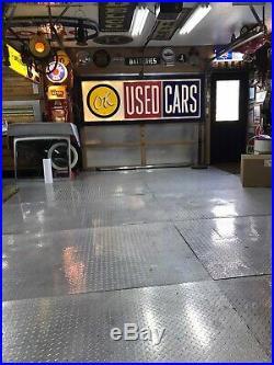Large Vintage original OK USED CARS SIGN