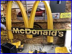 McDonald's Golden Arches and Letters Sign Almost Six Feet Wide Vintage